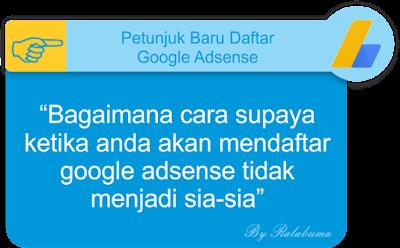 Petunjuk Baru Cara Mendaftar Google Adsense Non Hosted