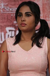 Actress Srushti Dange Stills in Short Dress at Mupparimanam Press Meet  0004.jpg