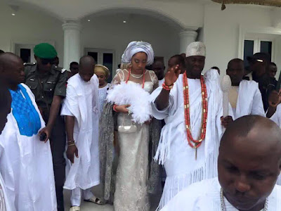 ooni of ife and new wife wuraola zainab otiti pictures one
