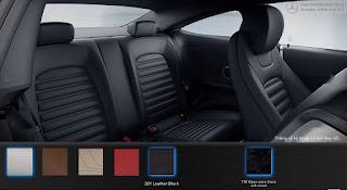 Nội thất Mercedes C300 Coupe 2018 màu Đen Leather 201