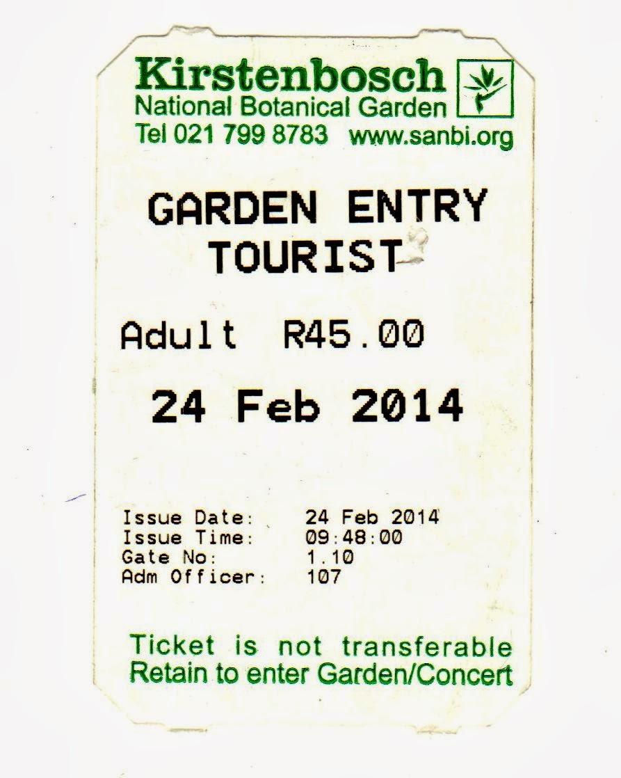 entrada para o Kirstenbosch Botanical Garden
