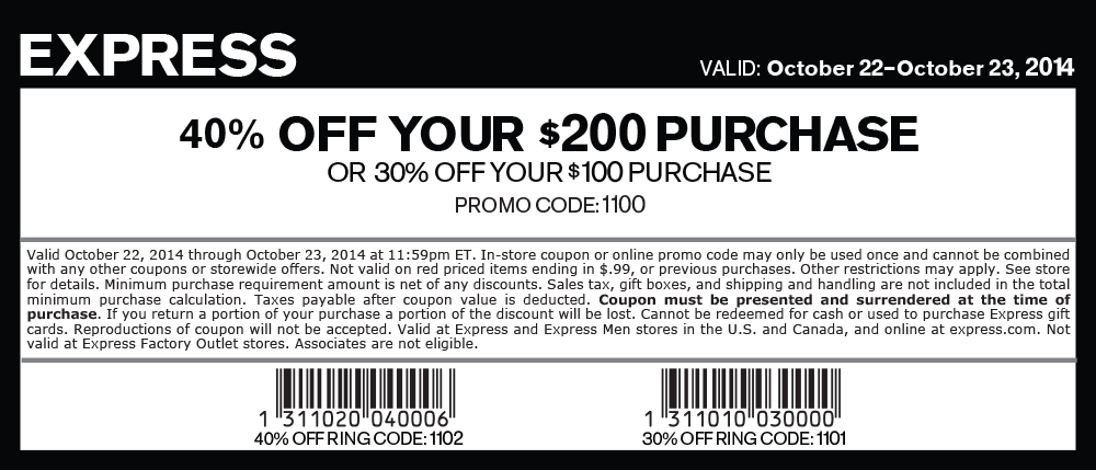 Express coupons 2018 printable