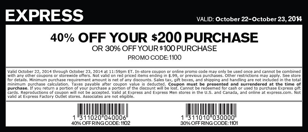 express coupons 2019