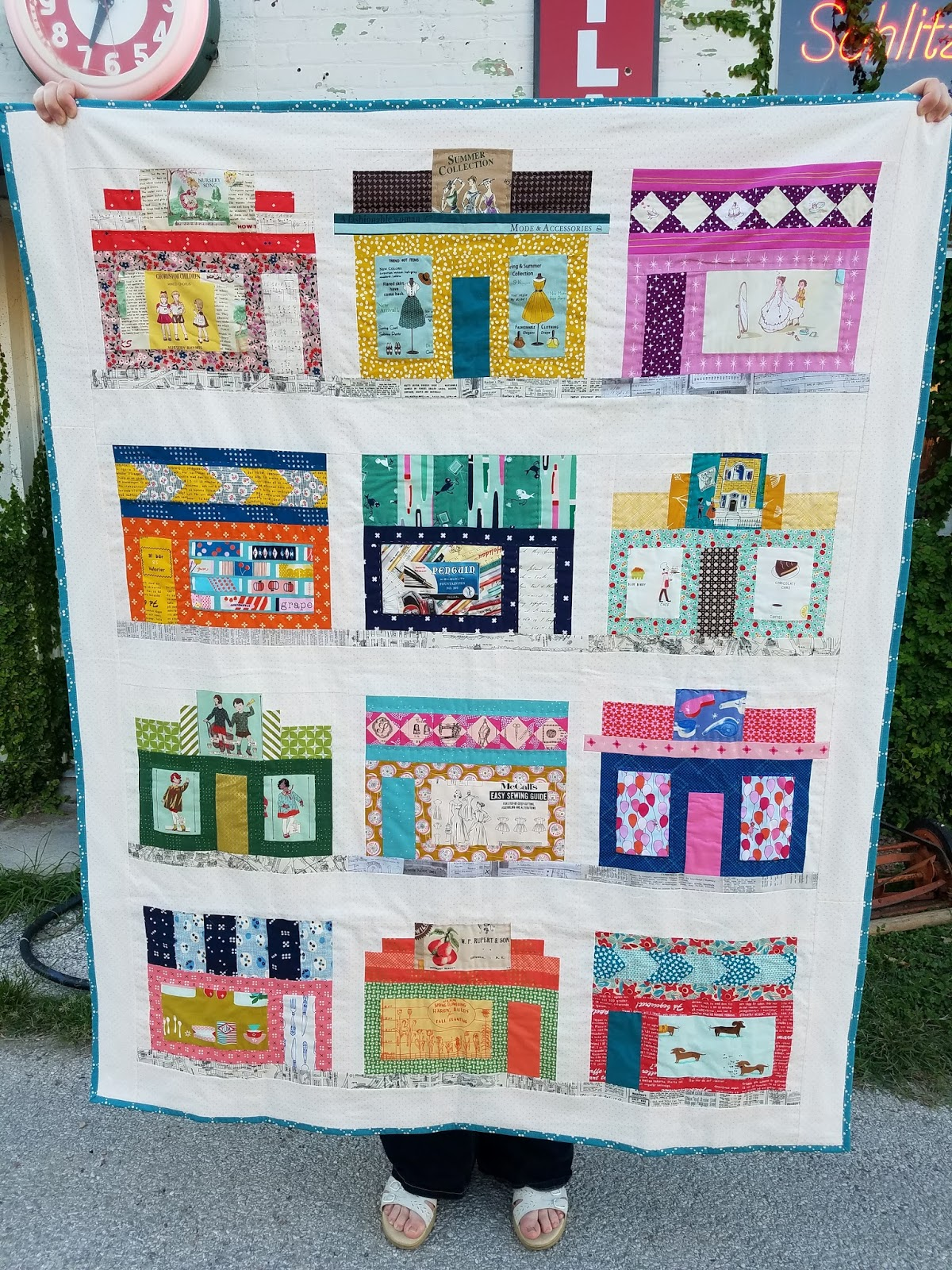 Fabric Mutt: Storefronts Quilt Pattern (Window Shopping at the ... : five and dime quilt - Adamdwight.com