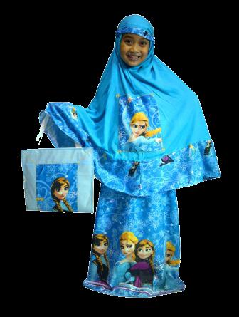 Mukena Anak Frozen Biru - KODE BMF02