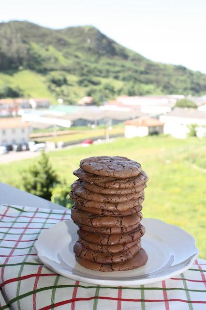 galletas brownie doble chocolate, con un toque de café { deliciosas }