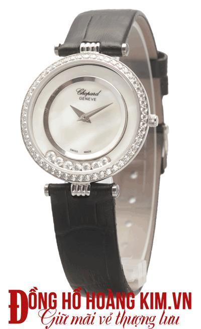 đồng hồ chopard nữ dây da cao cấp