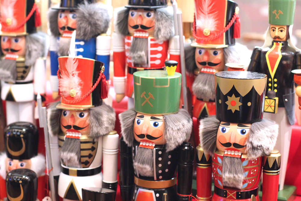 Nutcracker wooden soldiers at the Berlin Christmas markets - travel & lifestyle blog