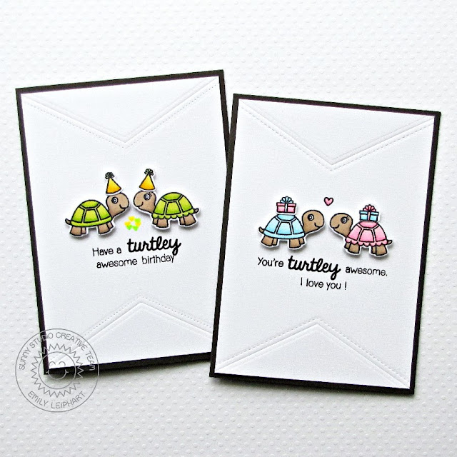 Sunny Studio Stamps: Turtley Awesome Birthday Cards for Kids by Emily Leiphart.
