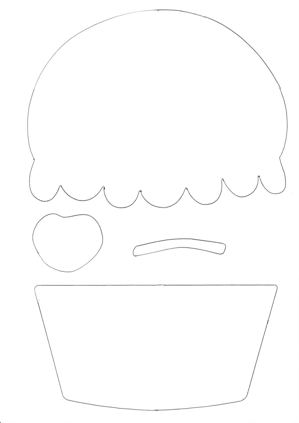 Шаблон кекса для открытки