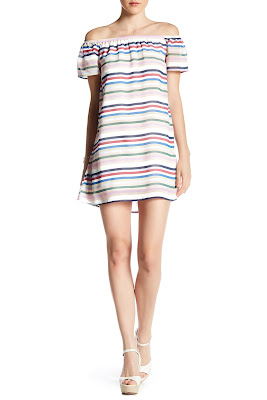 Want & Need Off-the-Shoulder Stripe Dress $23 (reg $44)