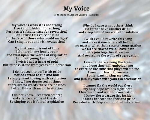 My Voice 1 To The Tune Of Leonard Cohenu0027s Hallelujah