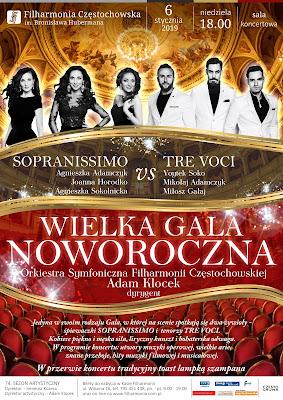Wielka Gala Noworoczna Filharmonia Częstochowska