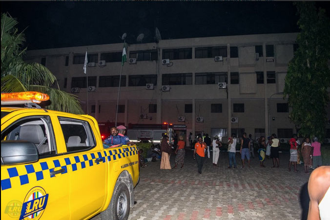 Photos: National Postgraduate Medical College of Nigeria razed by fire