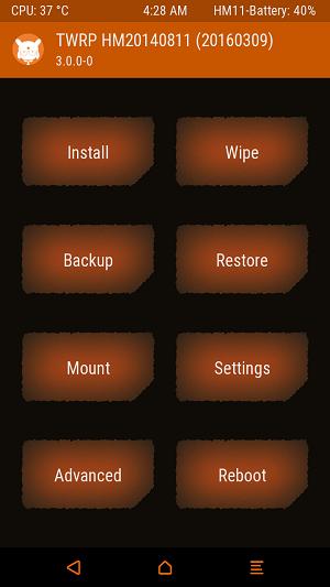 Halaman home - Ganti Custom ROM MIUI Pro Redmi 2 dengan Mudah via TWRP