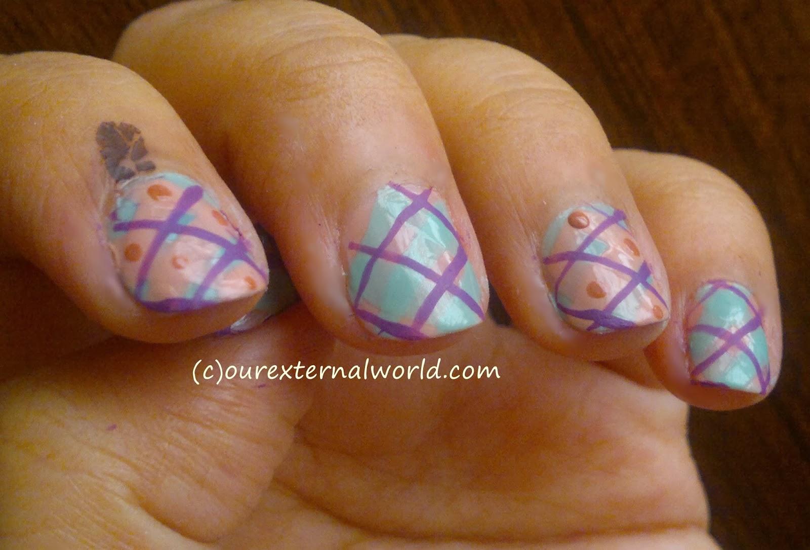 Winter Nail Art Plaid Nail Art Tutorial