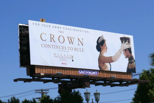 Crown season 2 Emmy consideration billboard