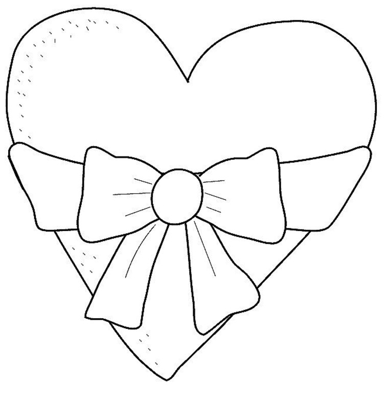 Coloring Page Heart | Coloring Pages Gallery