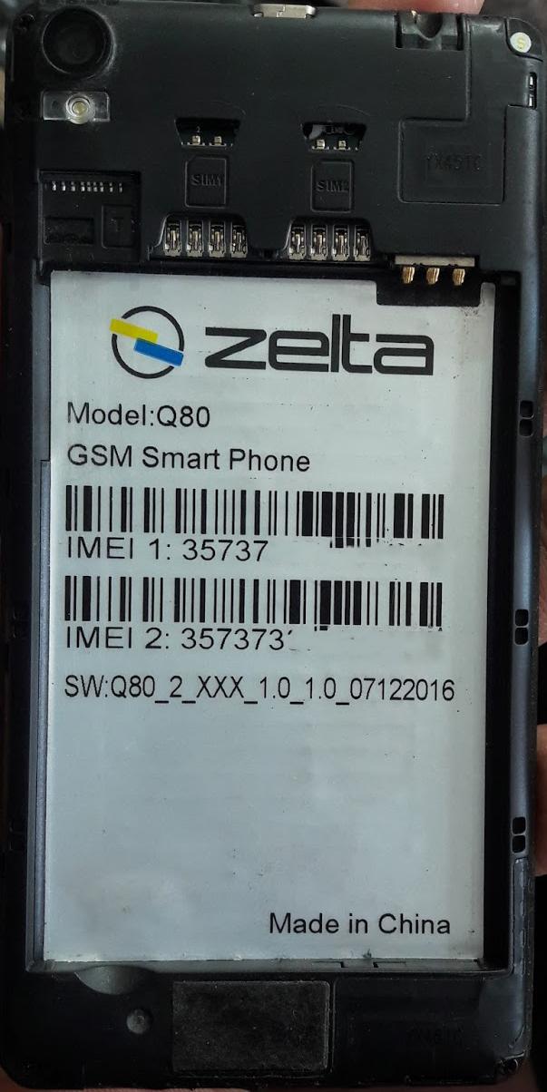 ZELTA Q80 FLASH FILE MT6580 FIRMWARE