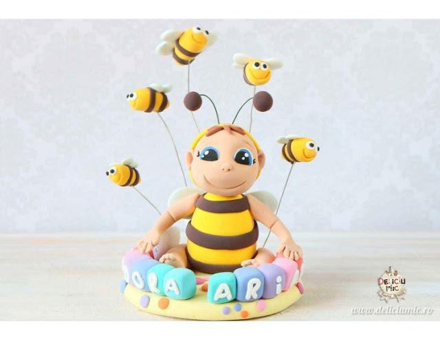 figurină tort albină