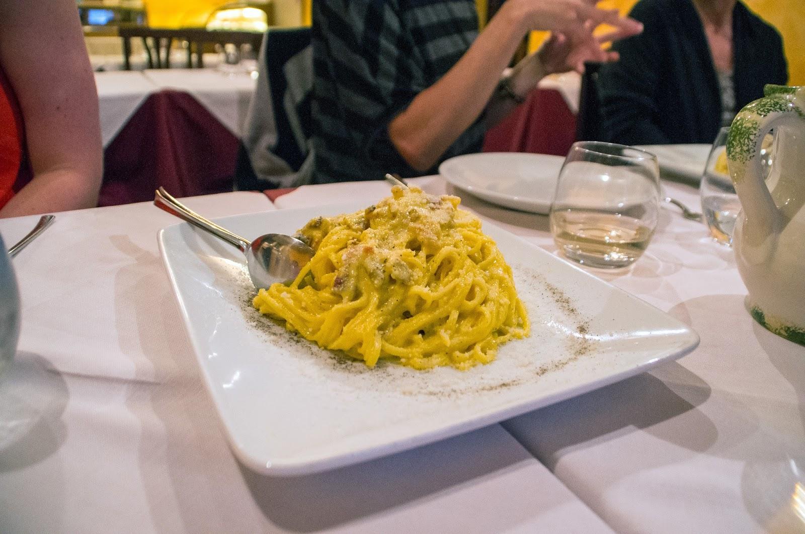Carbonara on Secret Food Tour Rome