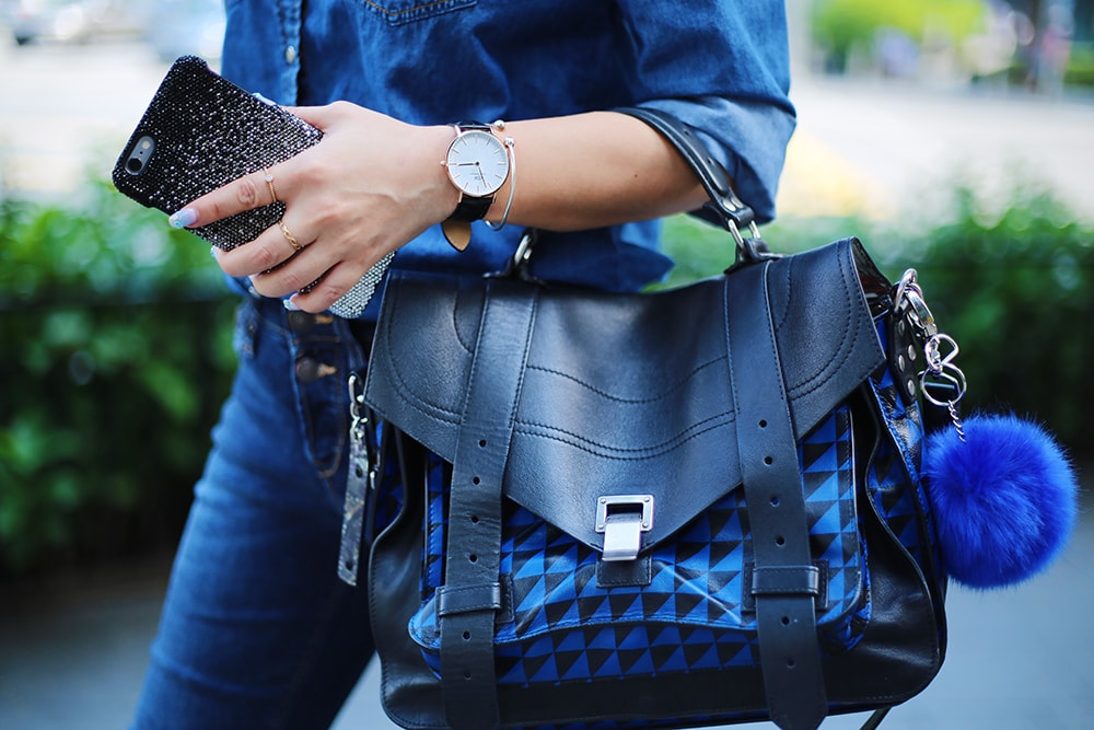 Crystal Phuong- Proenza Schouler handbag & Daniel Wellington watch