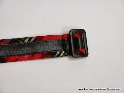 hacer-cinturón-cuadros-escoceses