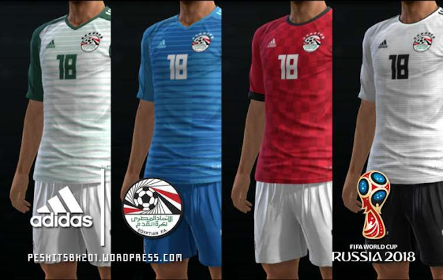 Egypt 2018 World Cup Kits PES 2013