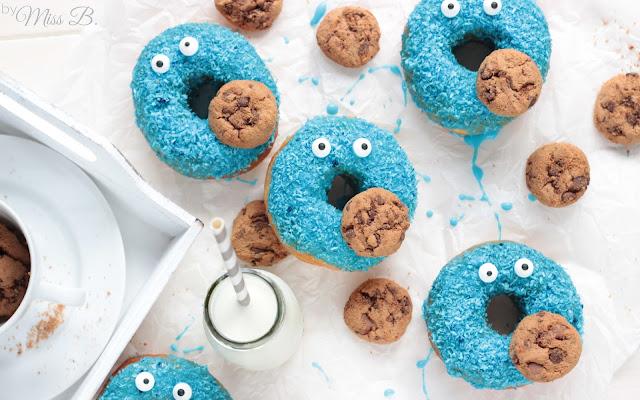 Krümelmonster Donuts...Omnomnom!