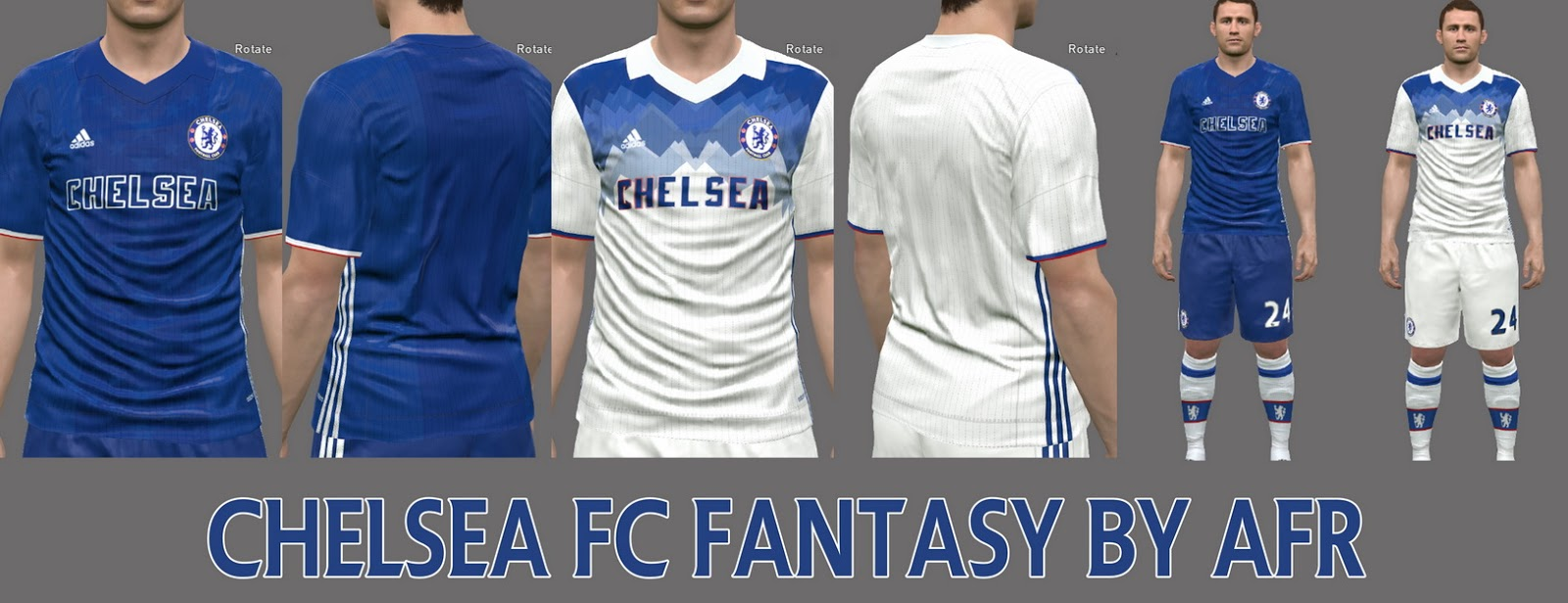 Pes-modif: PES 2016 Chelsea Fantasy Kits By AFR