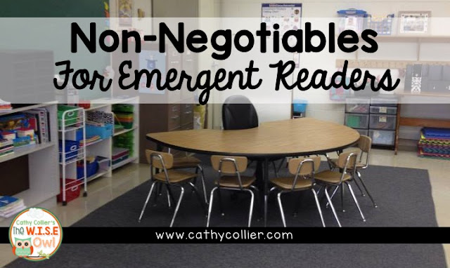 4 Non-Negotiables for Reading with Emergent Readers will guarantee all students have the best instruction.
