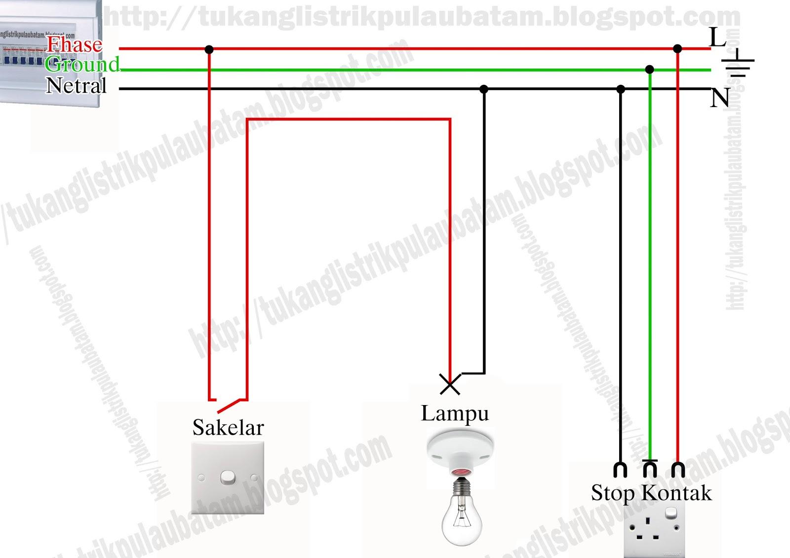 Diagram Wiring Lampu Rumah Manual Of Pendaflour Cara Memasang Stop Kontak Switch Saklar Dan Fitting Rh Tukanglistrikpulaubatam Blogspot Com