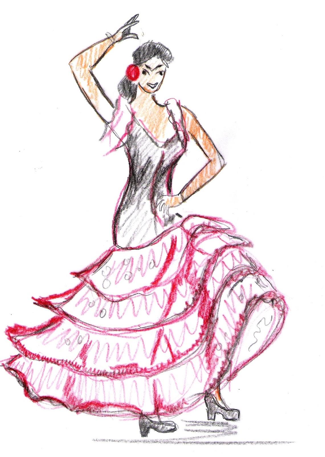 Jour apr s jour mon blog le flamenco - Dessin danseuse de flamenco ...
