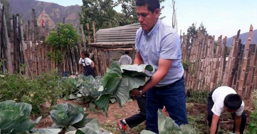 Escolares crean huerto para complementar su alimentación en sierra de Piura