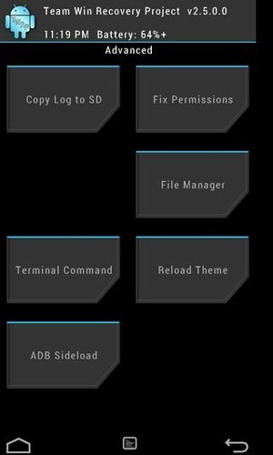 twrp recovery advanced