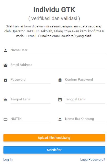 Cara Daftar Dan Cetak Kartu Sistem Verifikasi Validasi Individu GTK