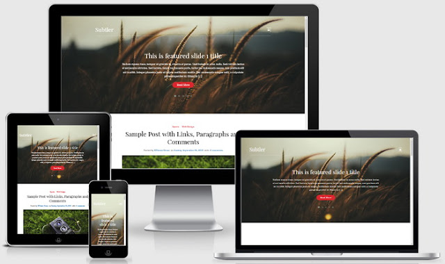 Subtler blogger theme