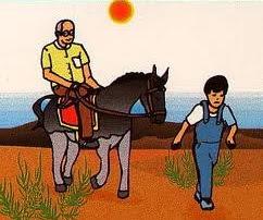 fabula el hombre el niño y el burro