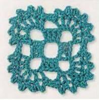 Patrón #1865: Como tejer cuadrad a crochet.