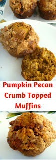 Filled with pumpkin, and spices such cinnamon, ginger, and cloves, and topped with a sugary crumble, you will be dancing a jig when you bite into these tender muffins. - Slice of Southern
