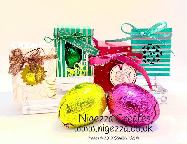 Mini Easter Egg Boxes  Springtime Foils