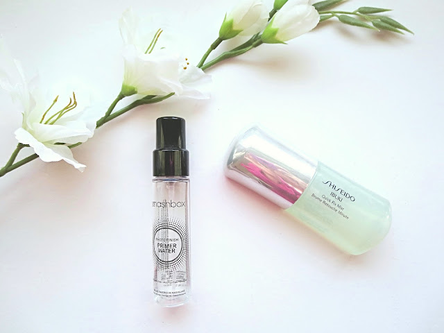 a picture of Smashbox Photo Finish Primer Water & Shiseido Ibuki Quick Fix Mist