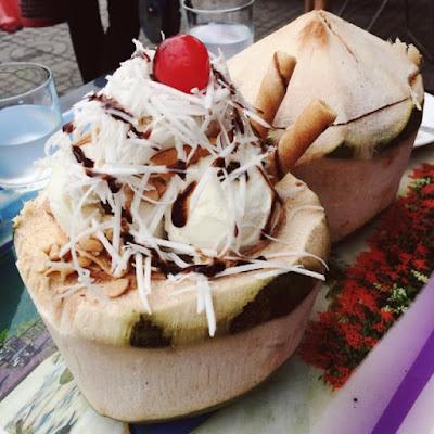 hình ảnh kem dừa