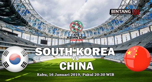Prediksi Korea Selatan vs China 16 Januari 2019