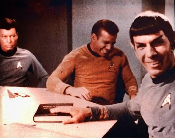 Star Trek (1966) - Dr. McCoy (DeForest Kelley), Kirk (William Shatner), Spock (Leonard Nimoy)