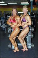 Female Bodybuilders Carri Ledford and Sherry Smith