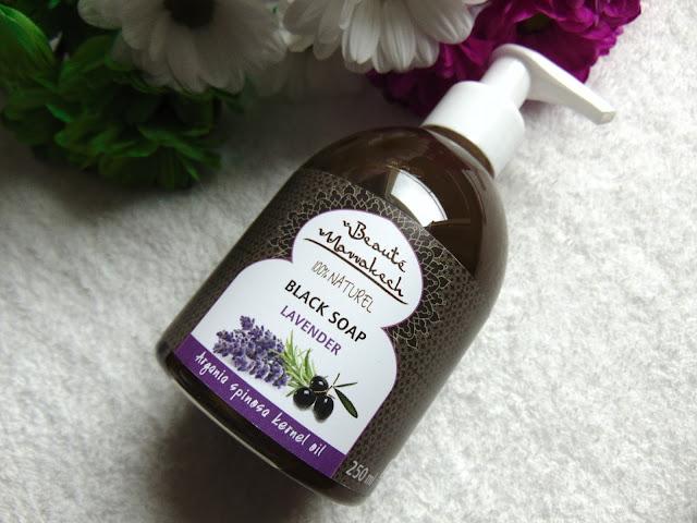 Maroko Sklep -  Black Soap Lavender - Czarne mydło w płynie lawendowe