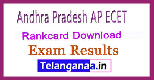Andhra Pradesh AP ECET APECET 2018 Rankcard Download
