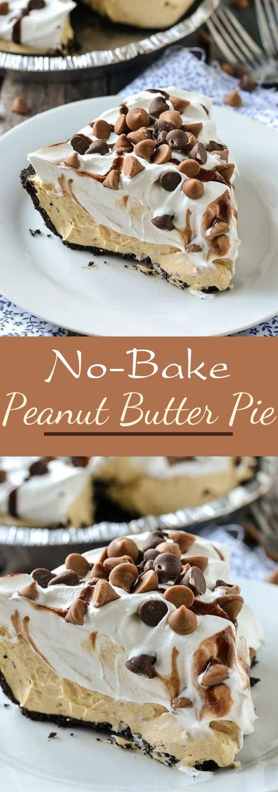 No-Bake Peanut Butter Pie #dessert #sweettreat