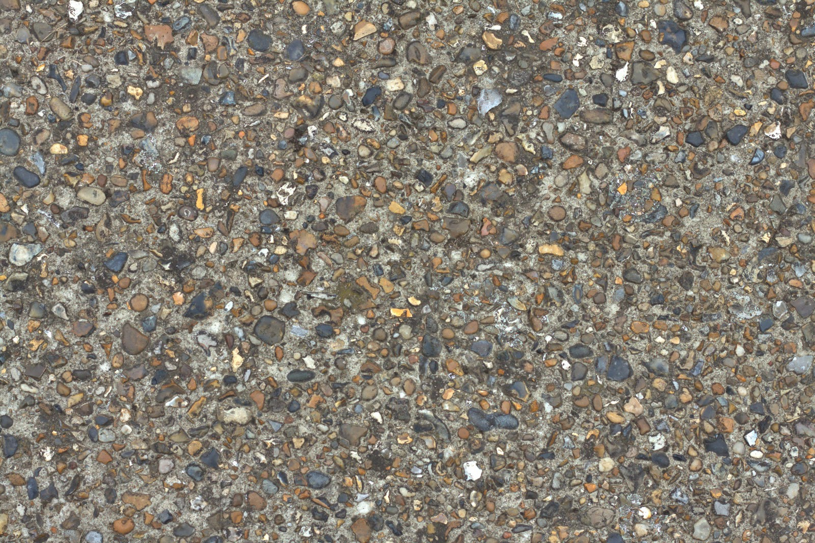 (Concrete cobble stone 5) pebble walkway texture 4770x3178